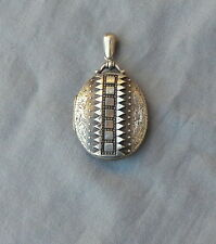 Beautiful English Vintage Antique Victorian Sterling Locket Pendant Circa 1880