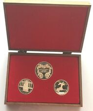 1974 20th Anniversary of The Coronation of Queen Elizabeth 3 coin medal set