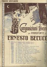 Composizioni Favorite Notturnino Sospiro del Cuore Pianoforte Ernesto Becucci
