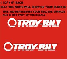 SALE 2-   TROY-BILT GARDEN TRACTOR VINYL DECALS  WHITE