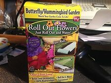 As Seen on TV Roll Out Flowers Butterfly/Hummingbird Garden