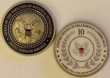 "ODNI DNI Director of National Intelligence 10 Yr Anniversary Coin 2"" CIA NSA DHS"
