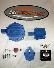 BLUE 6cyl HEI Distributor Cap, Coil Cover + Rotor Kit + 65K Volt Coil GM-CHEVY