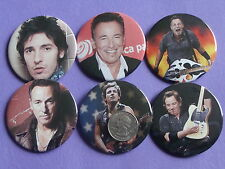 "Bruce Springsteen New Set Of 6 Large 2 1/4"" Buttons Pins"