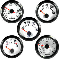 "2"" 52mm Car Auto Universal Pointer Boost Water Oil Temp Volt Bar Gauge Meter LED"