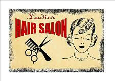 Vintage  Hair Salon Shop Sign Hairdressers Retro Style Sign Kitchen Sign