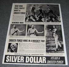 Silver Dollar Bourbon Whiskey 50's Boxing Advertisement