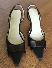 JCrew Satin Big-Bow Slingback Heels, 5