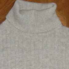 Womens VALERIE STEVENS 100% CASHMERE Cable Knit Turtleneck Sweater Small S
