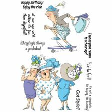 Art Impressions Clear Stamps - Got Style - Humor, Oldies, Birthday, Hats