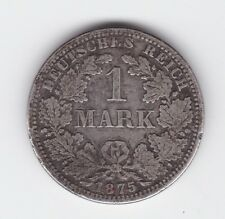 1875 A One 1 Mark Germany Silver Coin Z-317