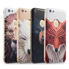 Aluminium Metal Bumper With 3D Design Back Cover Case for Apple iPhone 6 6S-Lion