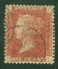SG 43 1d rose red plate 118. A very fine used CDS example