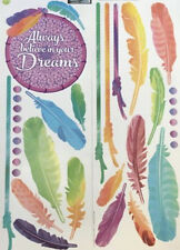 DREAM CATCHER wall stickers 20+ decals feathers ALWAYS BELIEVE IN YOUR DREAMS