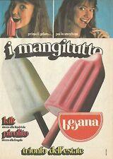 X2018 Gelati BESANA - I mangitutto - Pubblicità 1980 - Advertising