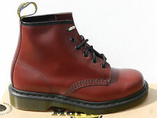 Dr Martens 101 Chaussures 41 UK7 Bottes Homme Femme Bottines 1460 Cherry Neuf