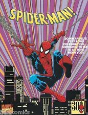 SPIDER-MAN 30th Anniversary poster 1992 Steve Ditko John Romita Ron Frenz 9.4 NM