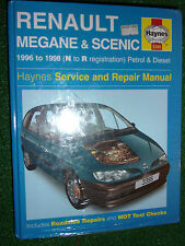 RENAULT MEGANE SCENIC MPV HAYNES MANUAL PETROL DIESEL Td COUPE CLASSIC 96-98 NEW
