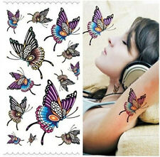Sexy Waterproof Temporary Fake Tattoos DIY Girl's Colorful Butterfly Sticker S4