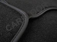 Für BMW 5er F07 Gran Tourismo Fußmatten Velours Deluxe schwarz Nubukband schwarz