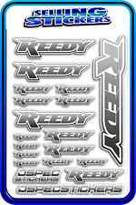 REEDY RC STICKERS DRIFT TOURING MOTOR ESC BATTERY 1/12 1/10 RACE GREY BLEND W