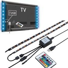 "2X19.7"" USB Powered LED Strip Light TV Background Lighting for Flat Screen HDTV"
