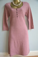 White Stuff 'Tailor Made' soft knitted dress / tunic pink cashmere angora BNWT 8