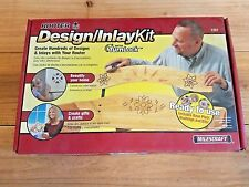 NEW Milescraft Router Design/Inlay Kit #1207 w 2 Bits, 4 Templates, Turnlock