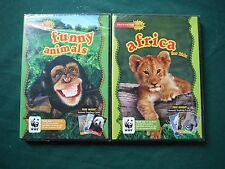 Encounter Kids - Africa For Kids & Funny Animals (2x DVD) + Animal Trading Cards