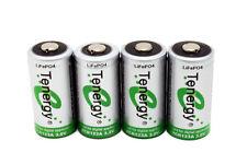 4pcs Tenergy RCR123A 3.0V/3.2V Rechargeable LiFeP04 Batteries