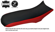 BLACK & RED CUSTOM FITS CCM 604 RS DUAL LEATHER SEAT COVER ONLY