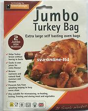 JUMBO TURKEY ROASTING OVEN BAGS  EXTRA LARGE PK - 2  PERFECT FOR SUNDAY ROAST