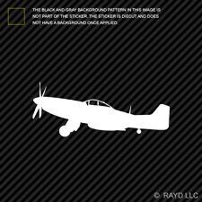 (2x) P-51 Mustang Sticker Die Cut Decal Self Adhesive Vinyl wwii type 1