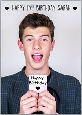 Shawn Mendes Birthday Card A5 Personalised with own words