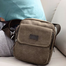 Men Vintage Casual Canvas Crossbody Messenger Shoulder Bag Tote Satchel Handbag