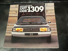 Grand Catalogue SIMCA TALBOT 1309 1978  prospekt  prospectus brochure Chrysler