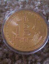 Gold  Bitcoins Coin Collectible Gift Physical BTC Coin Art Collection Un