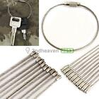 10 PCS Stainless Steel 20cm Wire Keychain Cable Key Ring for Outdoor BEST