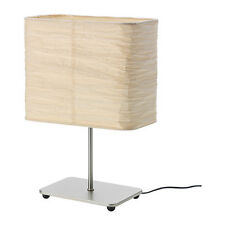 IKEA NEW MAGNARP TABLE LAMP NATURAL SHADE RICE PAPER STEEL NICKEL  PLATED