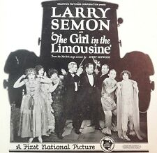 LARRY SEMON Silent Movie OLIVER HARDY FILM TRADE AD The Girl In The Limousine