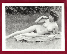 1940 Vintage Nude Photo~Perfect Firm Big Breasts Hairy Bush Nudist Pinup Outside