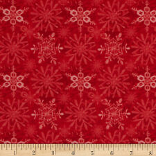Red Rooster Fabric Fat Quarter or more Snow Fun Snowflakes Red Quilt Partchwork
