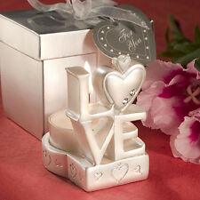 24 Stacked Love Design Candle Holders Bridal Shower Wedding Favors