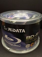 50-Pack RiData 4X 25GB White Inkjet HUB Printable Disc BDR-254-RDIWN-CB50