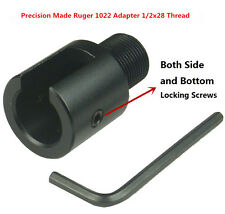 """Ruger10/22 1022 1/2""""x28 TPI AL Adapter and .223 Birdcage Muzzle Brake Combo"""