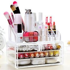 Clear Acrylic Makeup Cosmetic Organizer Case Drawers Holder Storage Jewelry Box