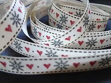 3M BERISFORDS CHRISTMAS SNOWFLAKE STITCH RIBBON, SEWING, CRAFTS, SCRAP BOOKING