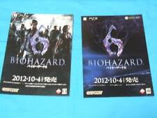 BIOHAZARD 6 & OPERATION RACCOON CITY BOOKLET SET X3 PS3 XBOX 360 CAPCOM ZOMBIE