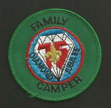 """CUB SCOUT 75th DIAMOND JUBILEE FAMILY CAMPER   PATCH 3 """""""