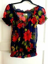 Gorgeouse Holister floral silk shirt top size S